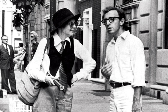 "Diane Keaton and Woody Allen in the film ""Annie Hall"""