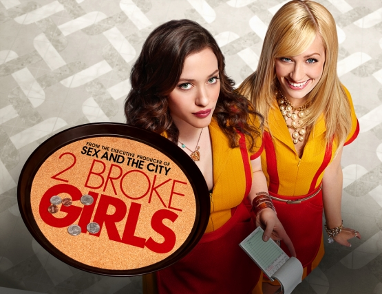 Max Black (Kat Dennings), Caroline Channing (Beth Behrs) - 2 Broke Girls