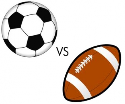 football vs soccer ball
