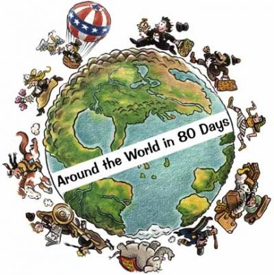 """2 """"Put oko sveta za 80 dana"""" - Žil Vern"""