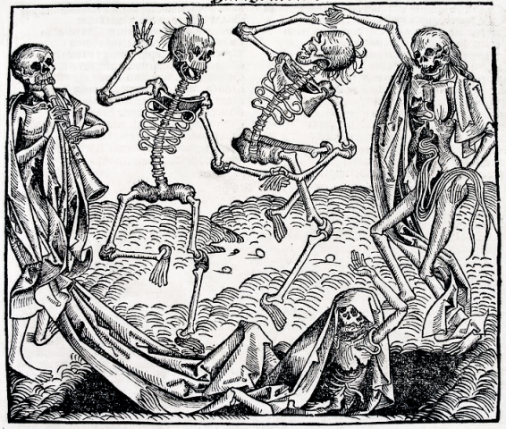 """Dance of Death"" (slika Mihaela Volgemuta iz 1493. godine)"