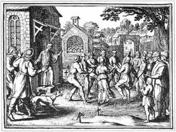 """Saint Vitus Dance"", nemačka gravura"