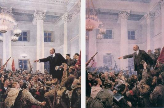 Staljin (levo - original; desno - izmenjena verzija)