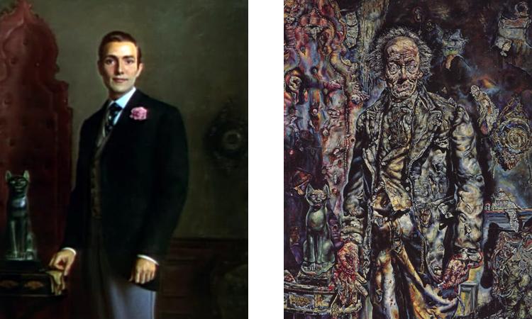 """""""Slika Dorijana Greja"""" Enrikea Medine (levo), """"Slika Dorijana Greja"""" Ivana Olbrajta (desno) - slike su korišćene u filmskoj adaptaciji iz 1945. godine"""